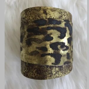 New Anthro Sibilia Animal Print Cuff Bracelet